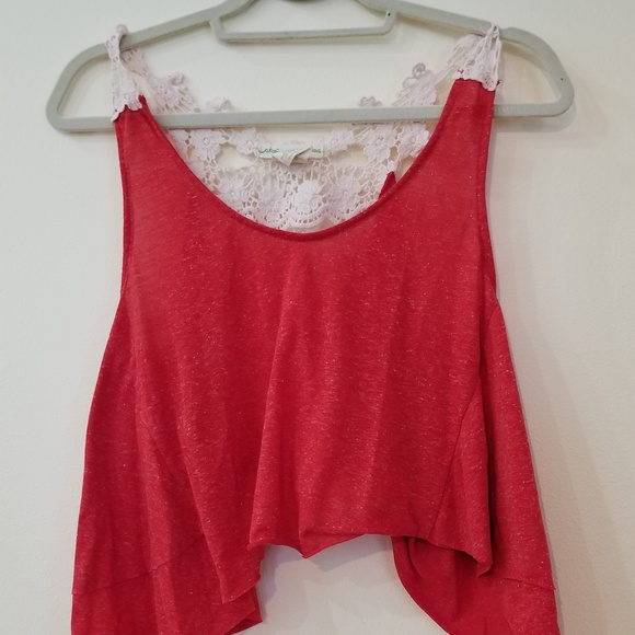 Urban Outfitters Tops - Flowy Cropped Tank with Crochet Back! Small